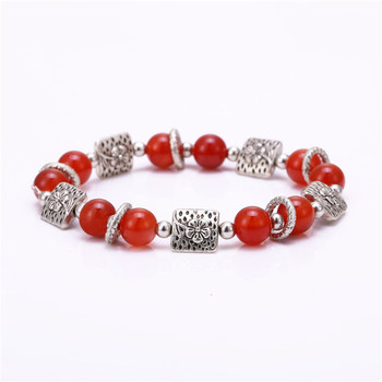 6 types fashion jewelry selling 1 beaded bracelet Charm bracelet for Women red 1 bead with metal charms 2016 new