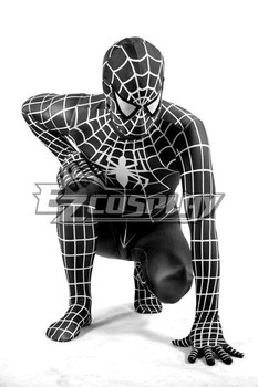 Marvel Spiderman Siyah Cosplay Kostüm E001
